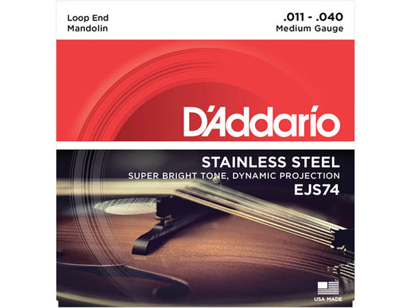 D'Addario EJS74 Stainless Steel Mandolin Strings