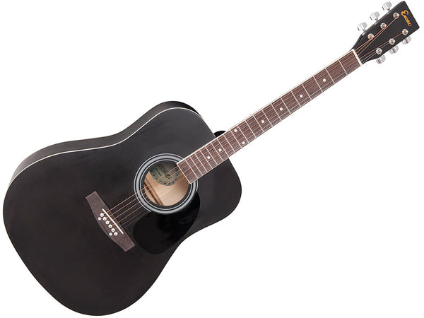 Encore Acoustic Guitar Outfit - Black