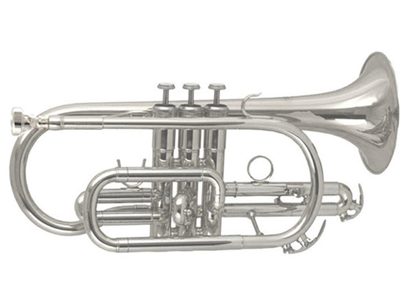 Elkhart 100CRS Cornet, silver plated