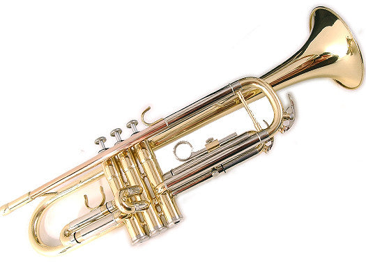 Elkhart 100TR Student Gold Lacquer Trumpet With Free Stolzel Mute