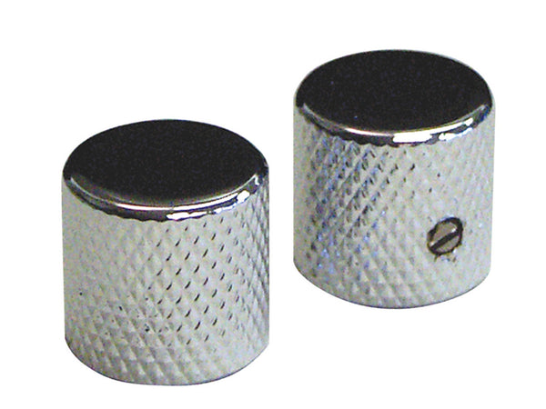 Chrome Metal Screw Lock Control Knobs