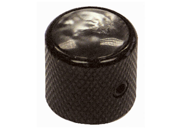 Black Dome Pearl Top Control Knobs
