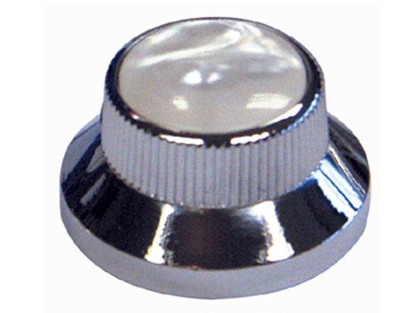 Chrome & Pearl Bell Type Control Knobs