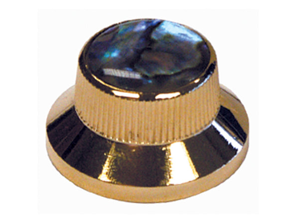 Gold & Abalone Bell Type Control Knobs