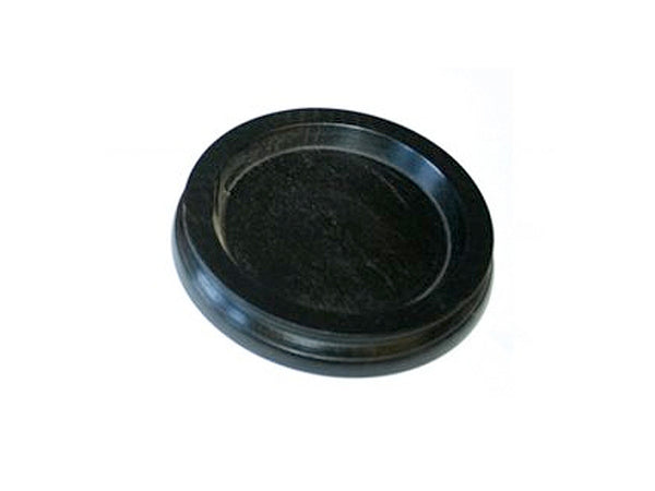 Ebony (70mm) Black Wood Castor Cup