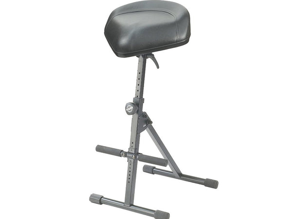 K&M Guitarist's Pneumatic Stool Leather Top