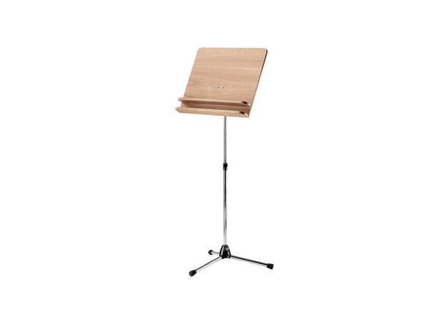 Conductor's music stand - nickel stand with walnut wooden desk