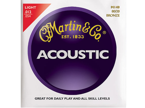 Martin M140 Acoustic Bronze Light Strings