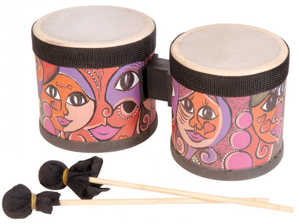 Performance Percussion World Mini Bongos with Beaters