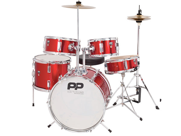 PP200RD Junior 5–Piece Drum Kit – Red