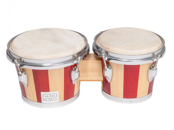 Performance Percussion World Two Tone Wood Bongos