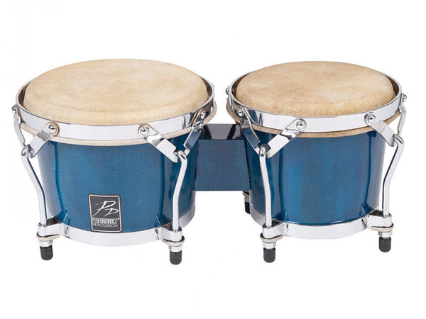 Performance Percussion World Coloured Wood Bongos - Blue