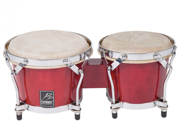 Performance Percussion World Coloured Wood Bongos - Red