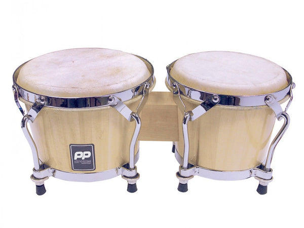 Performance Percussion World Coloured Wood Bongos - Natural