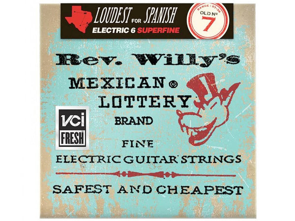 Dunlop Rev. Willy's Mexican Lottery Electric Guitar Strings - Extra Light