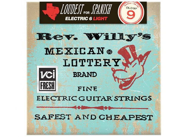 Dunlop Rev. Willy's Mexican Lottery Electric Guitar Strings - Medium/Light