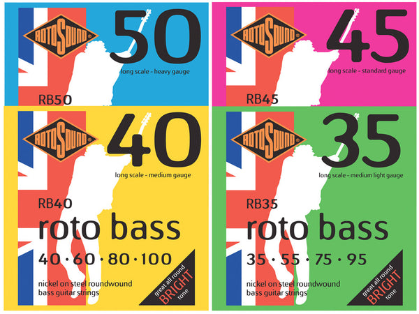 Rotosound Nickel Roundwound Bass Strings