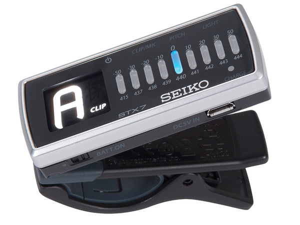 Seiko Clip-on rechargable tuner with LED torch STX7
