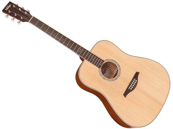 Vintage V501 Left Hand Dreadnought Acoustic - Natural