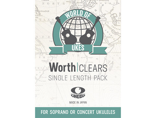 Worth CM Clear Soprano / Concert Ukulele Strings - SINGLE LENGTH