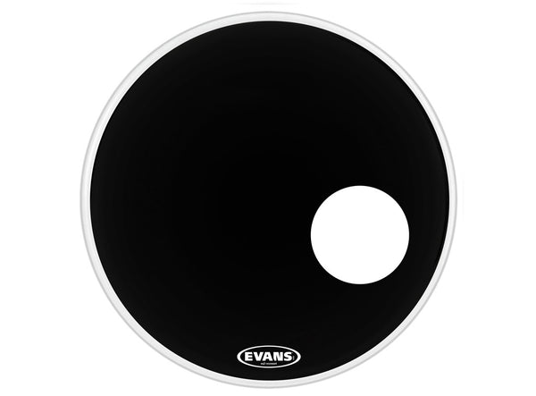 Evans Bass Drum Head, Black with Mic Hole
