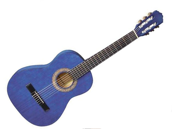 Almeria Classical Guitar Transparent Blue