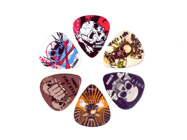 Boston Rock Picks - 6 Rock Themed Plectrums