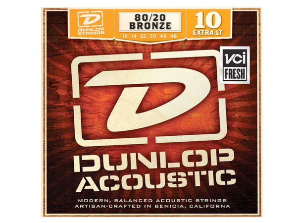 Dunlop 80/20 Brass Acoustic Strings - Extra Light