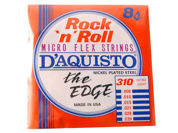 D'Aquisto The EDGE Microflex Electric Guitar Strings Ultra Light