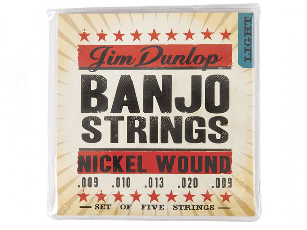 Dunlop Nickel Wound Banjo Strings - Light - 5/Set