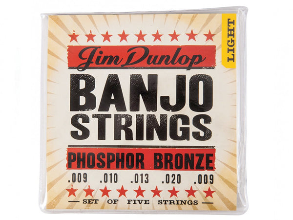 Dunlop Phosphor Bronze Banjo Strings - Light -5/Set