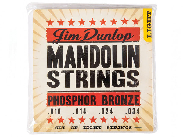 Dunlop Phosphor Bronze Mandolin Strings - Light