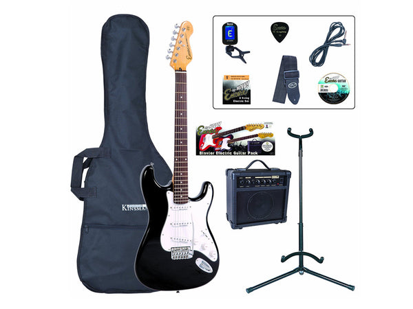 Encore E6 Electric Guitar Pack - Black