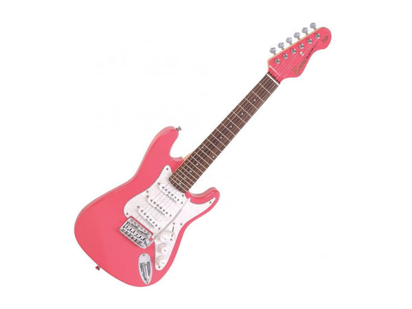 Encore EBP-E375PK Electric Guitar Pack - Pink Gloss 3/4 Size