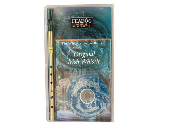Irish Whistle D Brass Triple Pack Tutor Book + CD