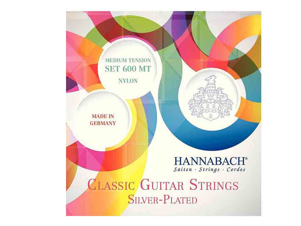 Hannabach Strings for Classic Guitar Series 600 Medium Tension Silver plated Set 600MT