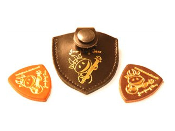 Jumping Cow Leather Ukulele Pick - Gift Pack