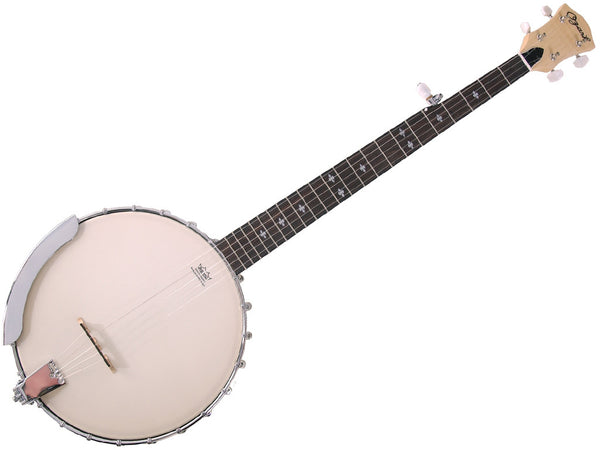 Ozark 2109G California Open Back Banjo With Brass Tone-Ring