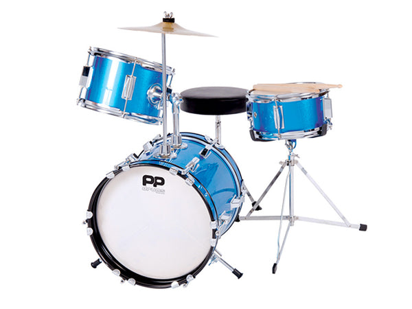 PP100BL Junior 3–Piece Drum Kit – Blue