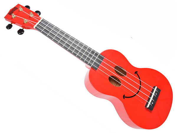 Mahalo Smiley Ukulele in Red