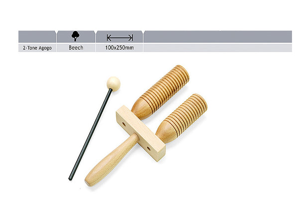 Quality Double Wooden Agogo