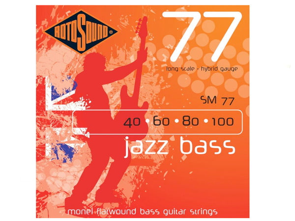 Rotosound SM77 Jazz Bass Guitar Strings 40 -100