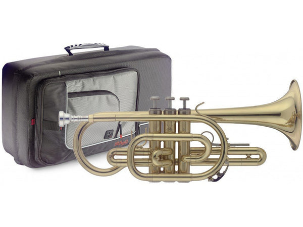 Beginner Stagg WS-CR215S Bb Cornet with case and FREE straight mute