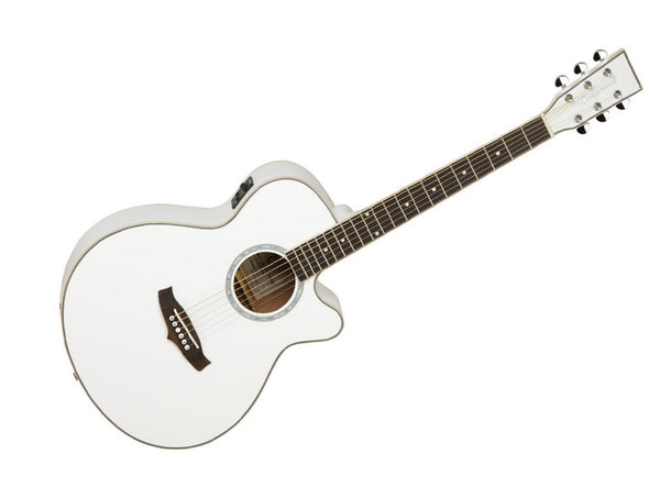 Tanglewood TSF CE WH Evolution Folk Cutaway - White - Display Model