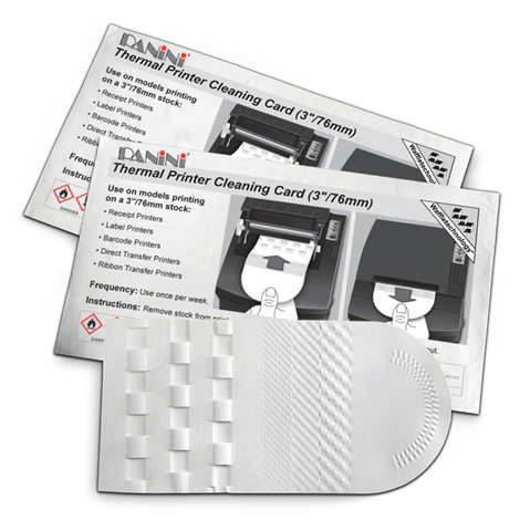 "Thermal Printer Cleaning Card featuring Waffletechnology® (3""/76mm) (15 count)"