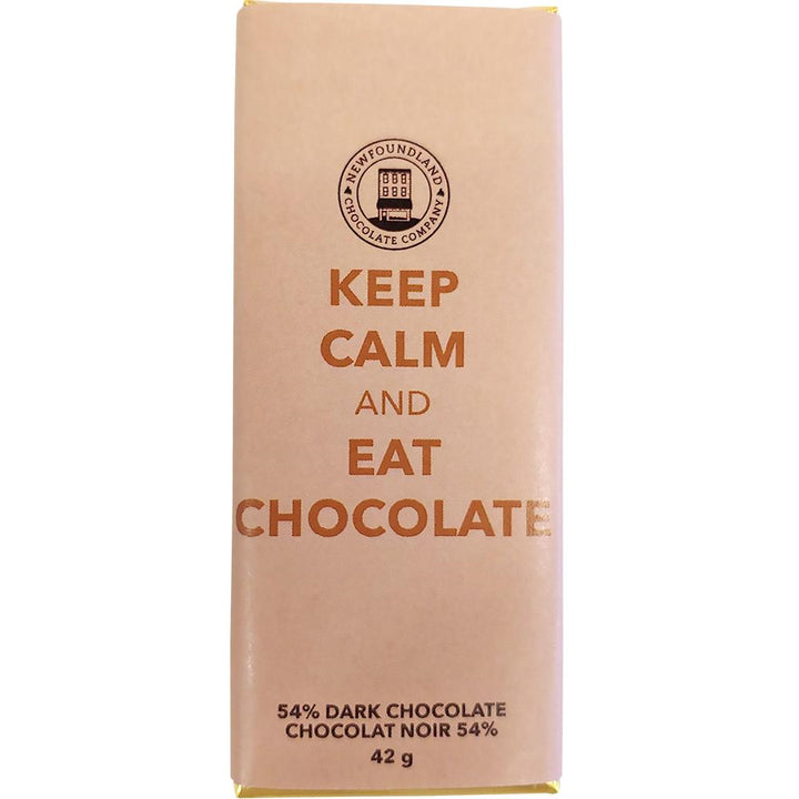 Keep Calm 54% Dark Chocolate Bar