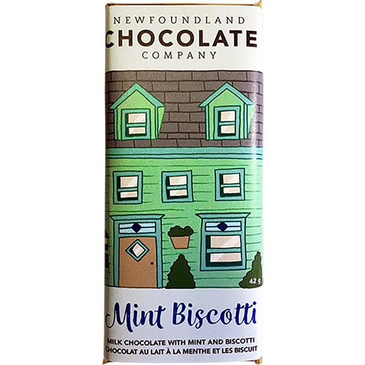 Mint & Biscotti Milk Chocolate Row House Bar