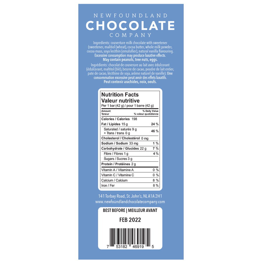 Lower Sugar Milk Chocolate Bar