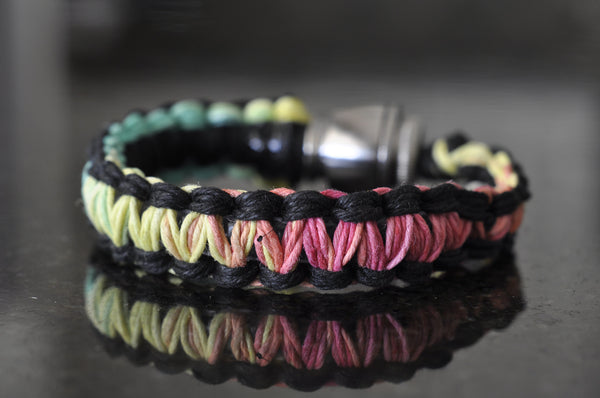 Pipe Bracelet - Black and Rasta