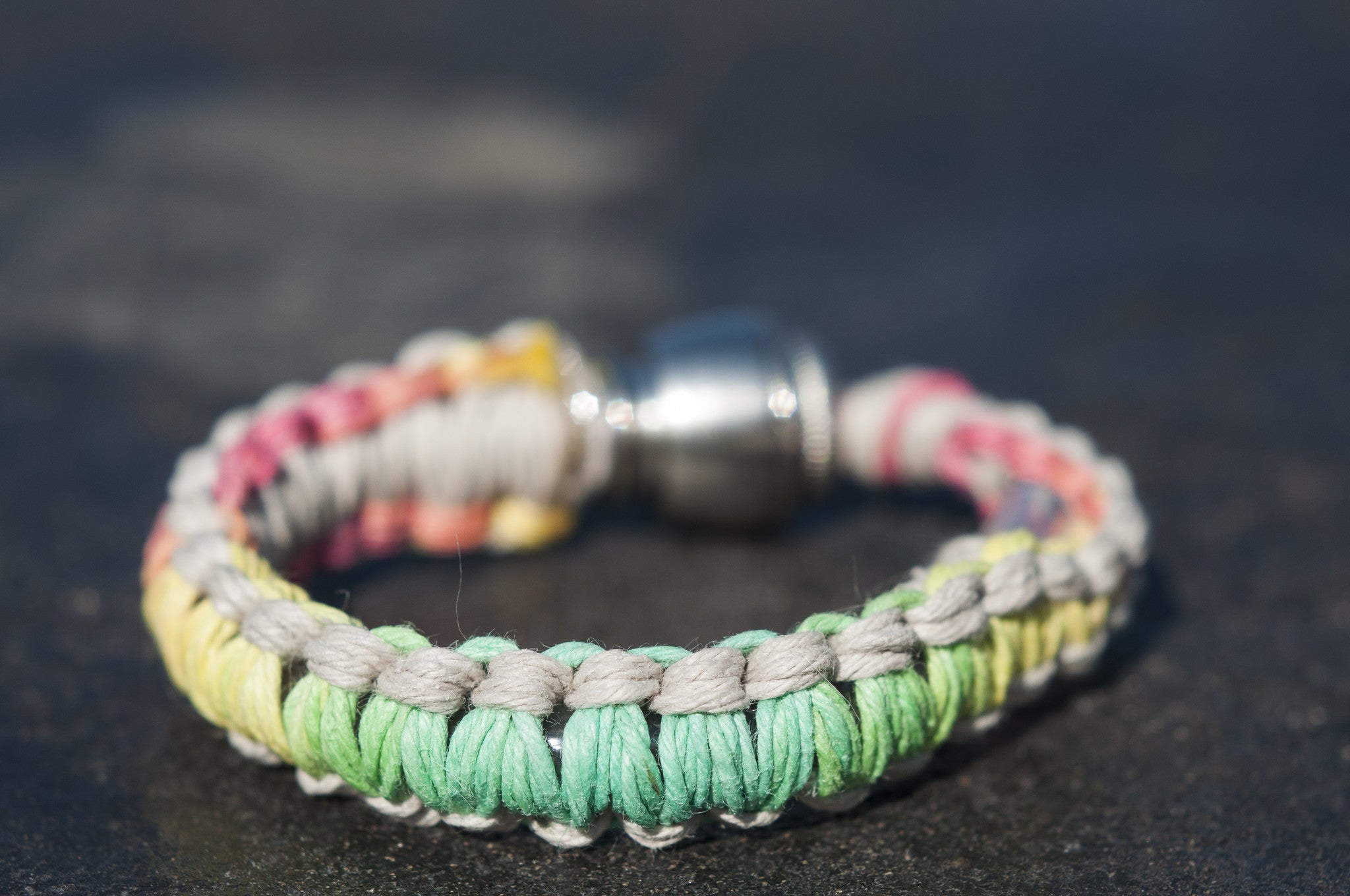 Pipe Bracelet - Rasta and Hemp